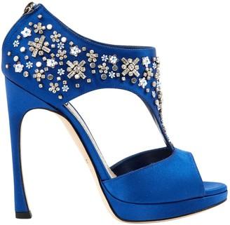 Christian Dior Blue Glitter Heels