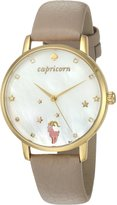 Kate Spade Women's 'Metro' Quartz Stainless Steel and Leather Casual Watch, Color: (Model: KSW1193)