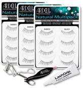 Ardell Fake Eyelashes Babies Value Pack - Natural Multipack Babies (Black, 3-Pack), LashGrip Strip Adhesive, Dual Lash Applicator, Cameo Eyelash Curler -Everything You Need For Perfect False Eyelashes by
