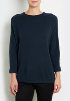 Inhabit Cropped Sleeve Pullover Sweater