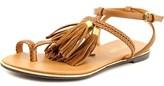 Report Citrine Open-toe Leather Slingback Sandal.