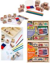Melissa & Doug Stamp Set Bundle: Dinosaurs & Vehicles