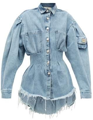 Natasha Zinko Cinched Cotton-denim Jacket - Womens - Denim