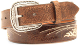 Ariat Brown Embroidered Leather Belt