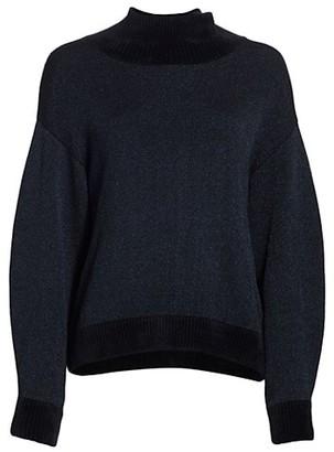 3.1 Phillip Lim Long-Sleeve Double-Face Lurex Turtleneck Sweater