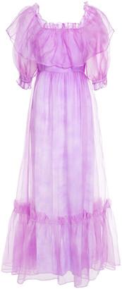 LoveShackFancy Tara Ruffled Silk-organza Maxi Dress