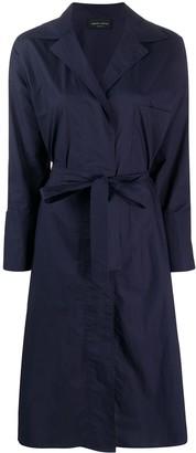 Roberto Collina Tie Waist Shirt Dress