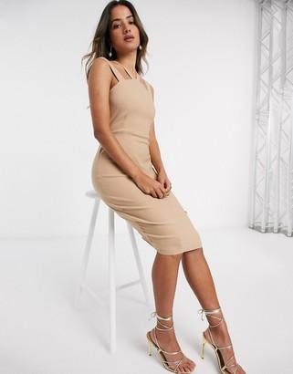 Vesper Donna midi dress with cross front