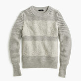 J.Crew Collection lace stripe crewneck sweater