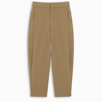 Chloé Khaki cropped trousers