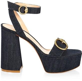 Gianvito Rossi Zandra Denim Platform Sandals