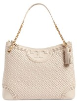 Tory Burch 'Fleming' Leather Shoulder Bag - Beige