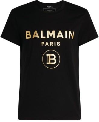 Balmain Foiled Monogram Logo T-Shirt