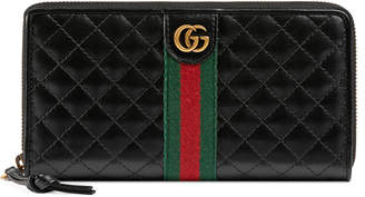 Gucci Trapuntata Leather Zip-Around Wallet
