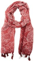 Charlotte Russe Printed Fringe Wrap Scarf