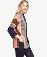 Ann Taylor Colorblock Oversize Tunic Sweater