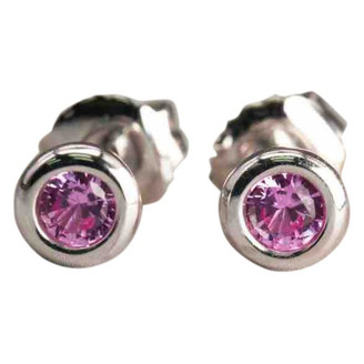Tiffany & Co. Elsa Peretti Pink Silver Earrings