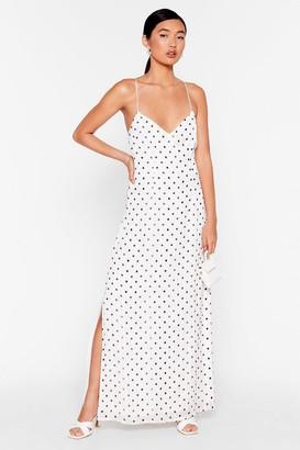 Nasty Gal Womens Nothing Can Spot Us Metallic Maxi Dress - White