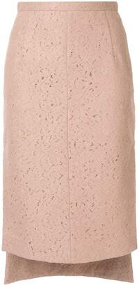 No.21 Lace Midi Pencil Skirt