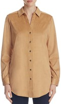 Foxcroft Faux Suede Long Shirt