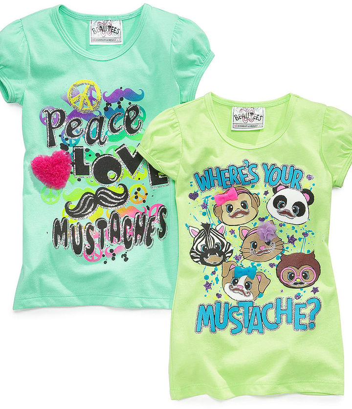 Beautees Kids Shirts, Little Girls Graphic Tees