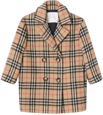 Burberry Kids Check Print Coat