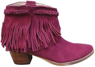 Etoile Isabel Marant \N Burgundy Suede Ankle boots