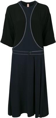 Marni belted midi dress