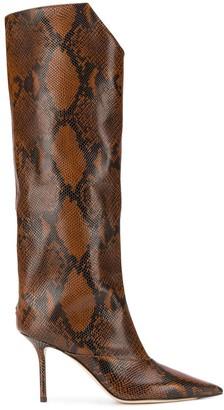 Jimmy Choo Brelan 85 snakeskin effect boots