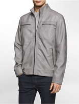 Calvin Klein Washed Faux Leather Jacket