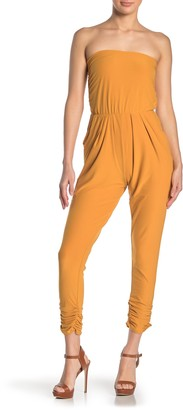 Planet Gold Yummy Ruched Bandeau Jumpsuit
