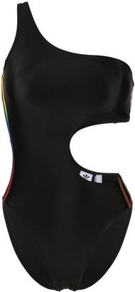 adidas Gradient Three-Stripes Asymmetric Swimsuit