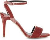 Sandro Nina velvet heeled sandals