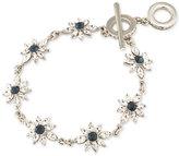 Carolee Silver-Tone Crystal Flower Toggle Bracelet