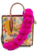 Christian Louboutin Artemistrap Dyed Rabbit Fur and Leather Strap