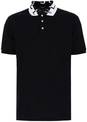 Versace Logo Collar Polo Shirt