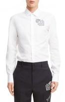 Lanvin Men's Arrow Embroidery Trim Fit Sport Shirt