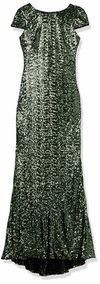 Badgley Mischka Women's Cowl Back Sequin Classic Gown