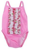 Pate De Sable Pink Front Frill Petal Swimsuit