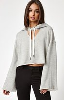 KENDALL + KYLIE Kendall & Kylie Cutout Neck Pullover Hoodie