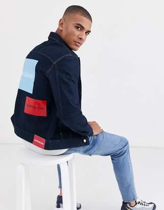 Calvin Klein Jeans Calvin Klein modern classic trucker denim jacket-Blue