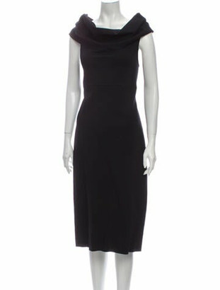 Oscar de la Renta 2013 Midi Length Dress Wool