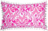 Lilly Pulitzer Beach Bathers Pom Pom-Trimmed Ikat Flamingo Indoor/Outdoor Canvas Pillow