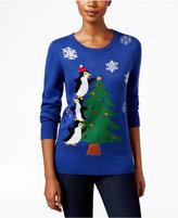 Karen Scott Petite Penguin Holiday Sweater, Only at Macy's