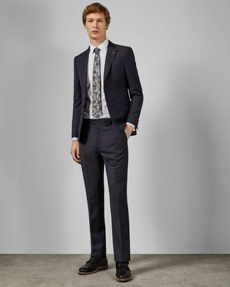 Ted Baker Debonair Subtle Check Wool Trousers