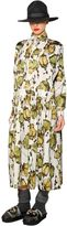 Antonio Marras Floral Print & Embroidered Poplin Dress