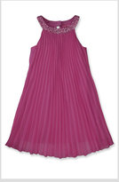 Pleated Chiffon Trapeze Dress (Big Girls)