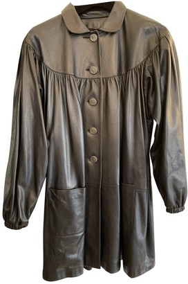 Chanel Black Leather Coat for Women