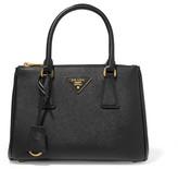 Prada Galleria Small Textured-leather Tote - Black
