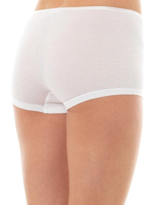 Thumbnail for your product : Hanro Seamless Cotton Boy-short Briefs - White